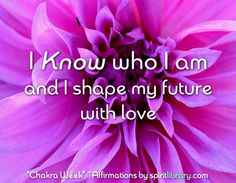 *Chakra Week* ~ Affirmations by SpiritLibrary.com ~ Seventh Chakra