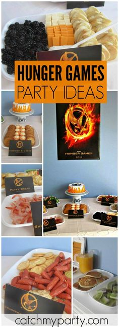 Check out all the themed food from the Hunger Games at this party! See more party ideas at CatchMyParty.com!