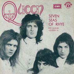 Queen early 1970's. Cover of the seven seas of Rhye, written by Freddie Mercury