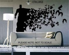 Batman ( Xtra Large Size) - Wall Decal - Wall art Sticker - ( Black outline shown ) from thewalldecalshopuk on Etsy. Saved to Things I want as gifts. My New Room, My Room, Wall Stickers, Wall Decals, Batman Wall Art, Batman Bedroom, Batman Room Decor, I Am Batman, Batman Stuff