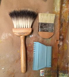 Tools for Marbling & Wood graining Back in Blue | Colorways with Leslie Stocker