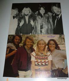 ABBA 1970's Music Dancing VTG Agnetha Anni-Frid Björn Benny Magazine clippings