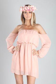lovely off the shoulder dress