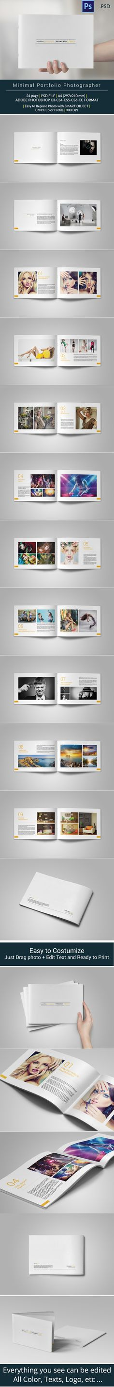 Buy Minimal Portfolio by adekfotografia on GraphicRiver. Minimal Portfolio A great fresh template made to fit any purpose, and it's absolutely great portfolio. Printed Portfolio, Portfolio Layout, Portfolio Design, Page Layout Design, Magazine Layout Design, Editorial Layout, Editorial Design, Envato Market, Curriculum Vitae