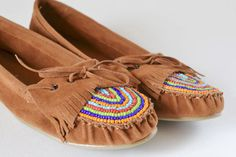 diy moccasins | DIY Beaded Moccasins Tutorial at iLoveToCreate - Dream a Little Bigger
