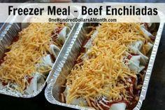 Beef Enchiladas Freezer Meal