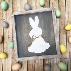 Easter Rabbit   Rustic Easter Decor   Easter Sign   Easter Bunny by TheWillowRabbit on Etsy (null)