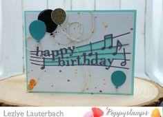 By The Poppystamps Design Team Happy Birthday Music Celebration Balloons Memory Box Dies