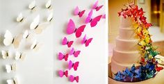 These beautiful 3d butterflies are ideal for bedrooms, nurseries, parties, refrigerators, cake decorations and so much more! Create a colorful mural with more than one color!Each set includes 12 butterflies in different sizes along with removable double sided tape and magnets. Available in 4 Fun Colors & 3 New Solid Colors! Blue Green Purple YellowSolid WhiteSolid PinkSolid Blue*Intensity of colors may vary due to different display monitors.