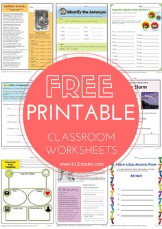 HUNDREDS of free educational printables! Perfect for homeschooling and the classroom - www.k12reader.com Free Teaching Resources, Teaching Strategies, Classroom Resources, Free Homeschool Curriculum, Homeschooling, Sight Word Spelling, Reading Comprehension Strategies, Teaching Techniques, School Plan