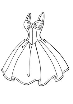 Barbie Dress Coloring Page For Girls Printable Free