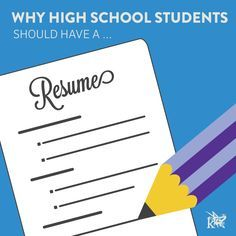 how to build a high school resume and why students need one