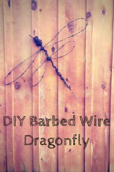 DIY Barbed Wire Dragonfly
