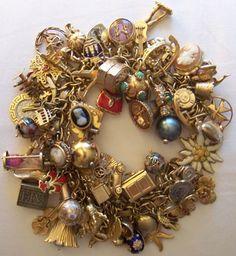 Vintage Charm Bracelet Jewelry Box Ideas Braclets