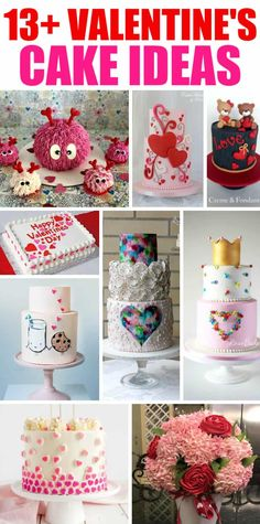 Valentine's Cakes and Party Ideas - if you need inspiration or want to find the perfect cake for Valentine Desserts, Valentines Day Cakes, Valentine Ideas, Chocolate Hazelnut Cake, Chocolate Peanut Butter, Banana Carrot Muffins, Red Velvet Donuts, Mocha Cheesecake, Wedding Cake Red
