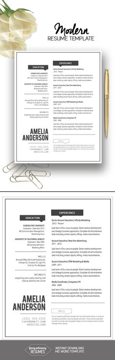Tranquil Script Resume Template, Classic Resume, Resume Template - resume template mac