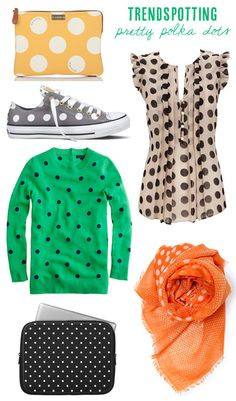 Pretty polka dot fashions from Babble.com