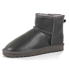 GTIME Winter Snow Boots Plus Warm Cotton Boots With Flat Sneaker Shoes Gray US 45 * Click image for more details.