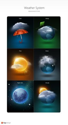 Very beautiful weather icons