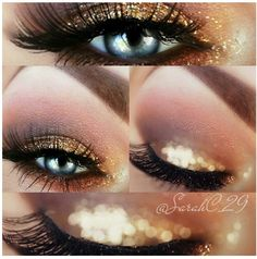 Glitter smokey look! Wedding make up , Love Makeup, Makeup Tips, Beauty Makeup, Makeup Looks, Hair Beauty, Stunning Makeup, Eye Trends, Prom Makeup, Rimmel
