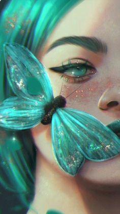 Pretty Art, Cute Art, Dibujos Tumblr A Color, Arte Obscura, Girly Drawings, Digital Art Girl, Anime Art Girl, Portrait Art, Aesthetic Art