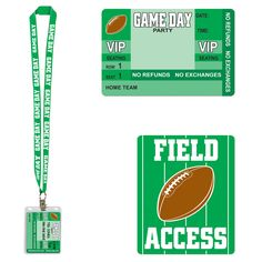 Get ready for the Big Game with the Game Day Party Pass. This football party pass is so affordable that it makes a great football or Super Bowl party favor. Bridal Party Games, Engagement Party Games, Dinner Party Games, Graduation Party Games, Kitty Party Games, Party Bus, Sleepover Party, Harry Potter Party Games, Sports Party