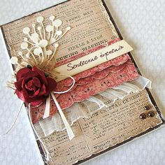 so delicate! b Love everything about this card.  What contrast and beauty.