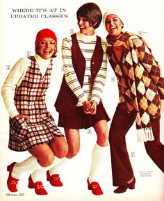 All sizes | Sears 1970 fw plaids browns | Flickr - Photo Sharing! Cay Sanderson, Lucy Angle and Colleen Corby.