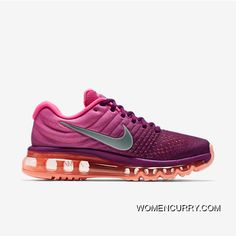 best service b2602 5dfed Nike Air Max 2017 Flyknit Women Red Purple