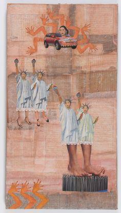 Hocine Ziani- Abu Dhabi, 1st day oil on canvas, 120x160cm ...