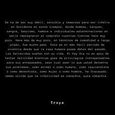 Troya frases / Troya escritor