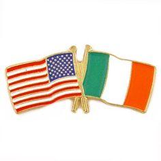 USA / Italy flag lapel pin