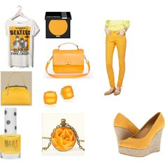 orange outfit by evabeinme on Polyvore
