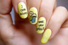 I can always make you smile, nail art tutorial by PiggieLuv