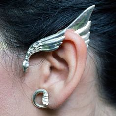 single silver plated elven ear cuff