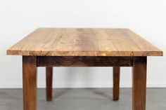 Reclaimed Farm Table Made With Wood Salvaged From Factory In Charlestown,  Boston MA