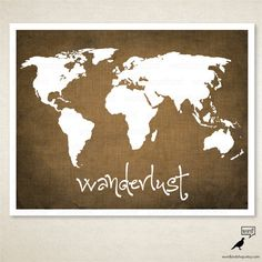 World map wall decor large map decor nautical wall art for items similar to wanderlust vintage world map poster linen texture map art print adventure map poster travel poster map art on etsy gumiabroncs Gallery