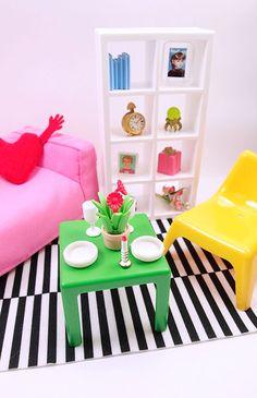 Barbie Sized IKEA HUSET Furniture Set $28 via Tinyfrockshop.com