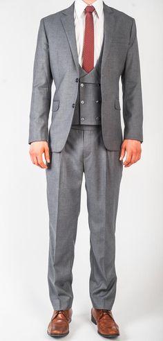 Original Three Piece Suit in Grey.