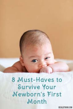 What do you really NEED to survive that first month with your newborn? Click for a list of 8 must-have baby registry items you won't want to be without.