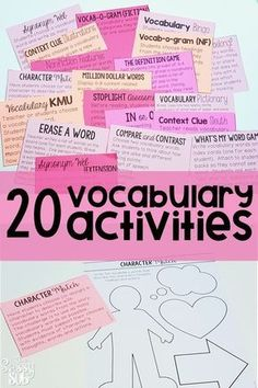 Are you looking to spice up your vocabulary instruction? These vocabulary activities are PERFECT for whole group or small group instruction! Students will work with their vocab words interactively in a fun and engaging way! || Ideas, activities and revision resources for teaching GCSE English || For more ideas please visit my website: www.gcse-english.com ||