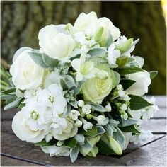 summer white wedding bouquet