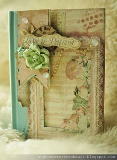 Altered Shabby Chic Journal - Life on the {Scrap}beach