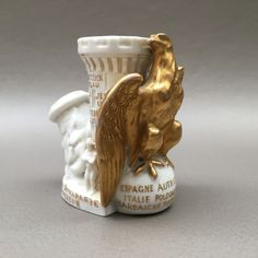 Figural porcelain pipe, Imperial eagle and Napoleon - France, ca. 1880 - Catawiki