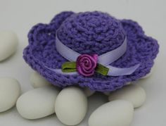 Wedding souvenir - crochet hat -recordatorio para boda -gorrito de ganchillo