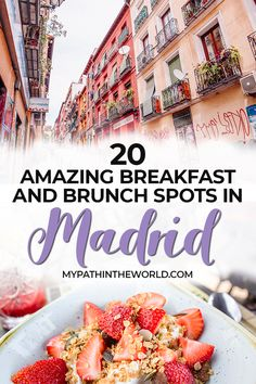 Looking for places to eat breakfast and brunch in Madrid Spain? Check out this Madrid food guide, including travel tips about restaurants, cafes, and bakeries that are perfect for breakfast and brunch in the Spanish capital! Spain Travel Guide, Europe Travel Tips, European Travel, Travel Deals, Travel Guides, Travel Destinations, Places To Eat Breakfast, Best Breakfast, Backpacking Europe