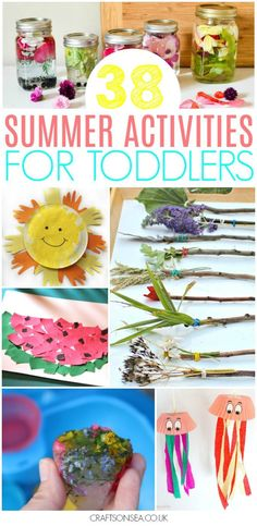 Need some inspiration for Summer activities for toddlers? We've got all the ideas you need for your kids with the most fun crafts and easiest activities including paper plate crafts, sensory play, suncatchers, sea crafts, easy sun crafts and more! Summer Holiday Activities, Summer Activities For Toddlers, Babysitting Activities, Craft Activities, Preschool Crafts, Toddler Activities, Toddler Snacks, Toddler Crafts, Crafts For Kids