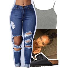 6-10-16✨ by lookatimani on Polyvore featuring polyvore, fashion, style, Topshop, Birkenstock and clothing