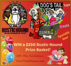 WIN a $250 Prize Basket for Your Dog from Rustic Hound! 10K Fan Celebration Giveaway