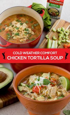 Want a savory soup? Add flavor to your chicken soup recipe with Zatarain's Blackened Chicken with Yellow Rice. Chicken Tortilla Soup, Chicken Soup Recipes, Diced Chicken, Mexican Beef Soup, Quick Dinner Recipes, Easy Recipes, Cilantro Lime Chicken, Mexican Food Recipes, Ethnic Recipes